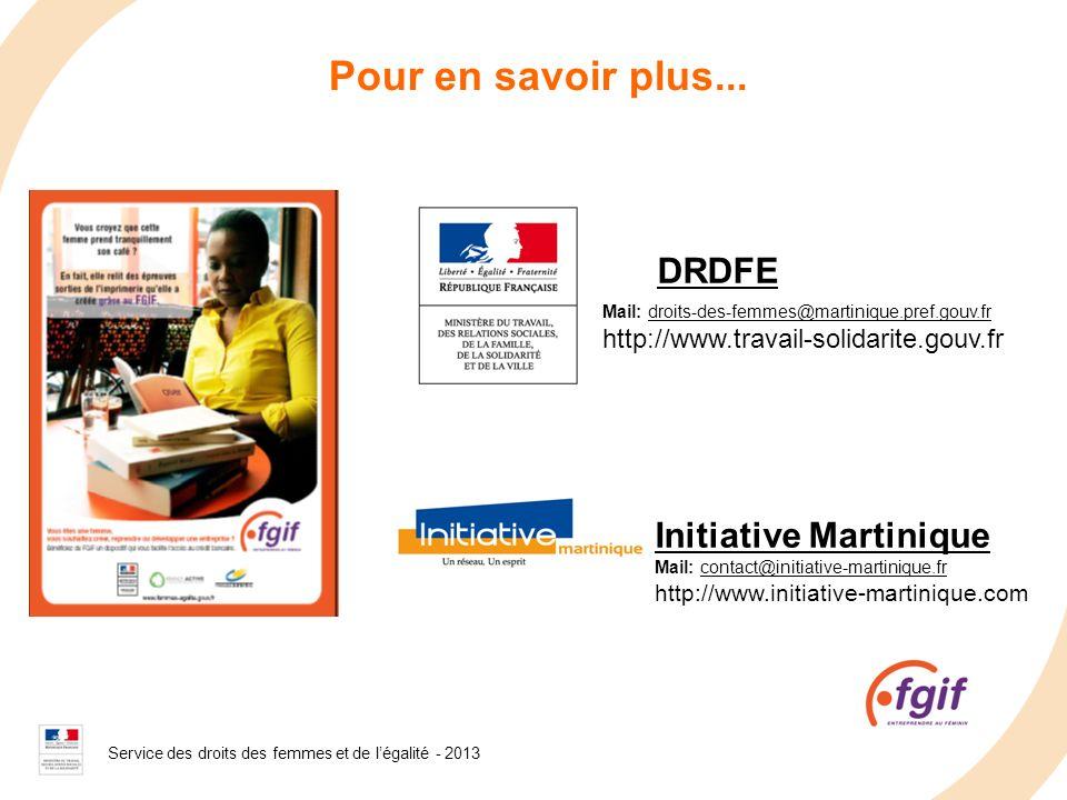 Pour en savoir plus... DRDFE Initiative Martinique