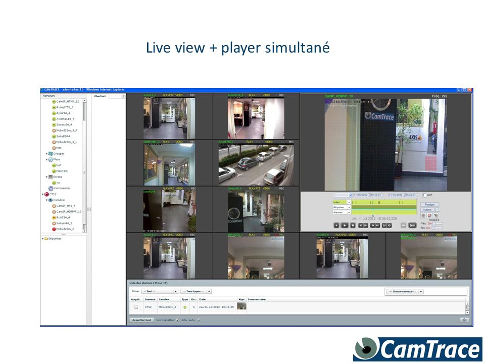 Live view + player simultané