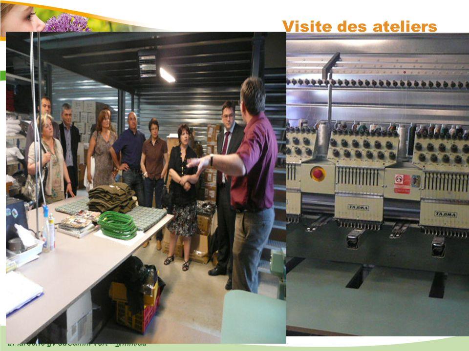 Visite des ateliers th laroche gv saGamm vert – jj/mm/aa