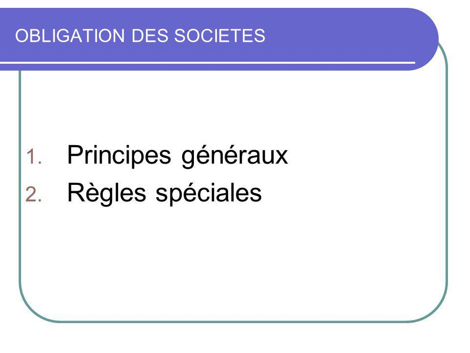 OBLIGATION DES SOCIETES
