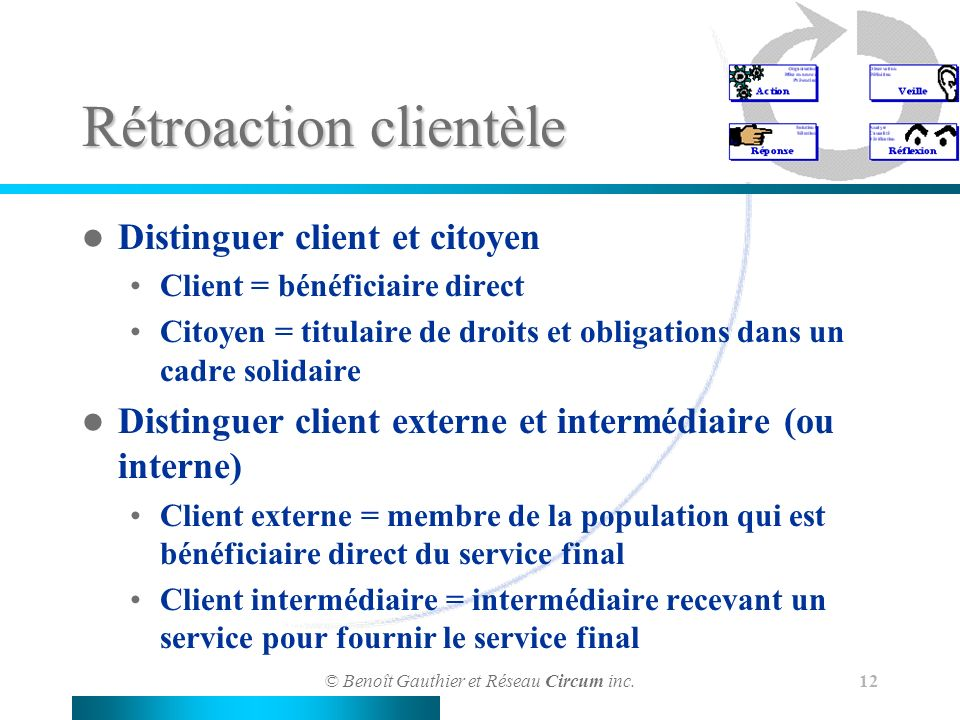 Rétroaction clientèle