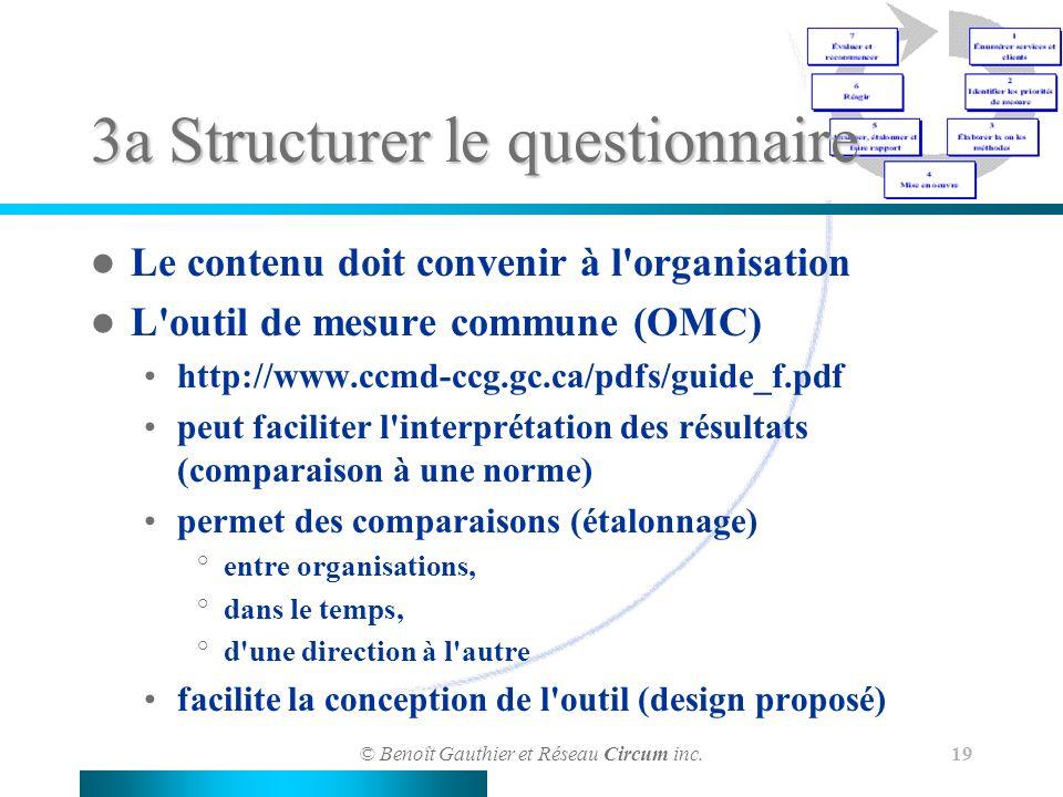 3a Structurer le questionnaire