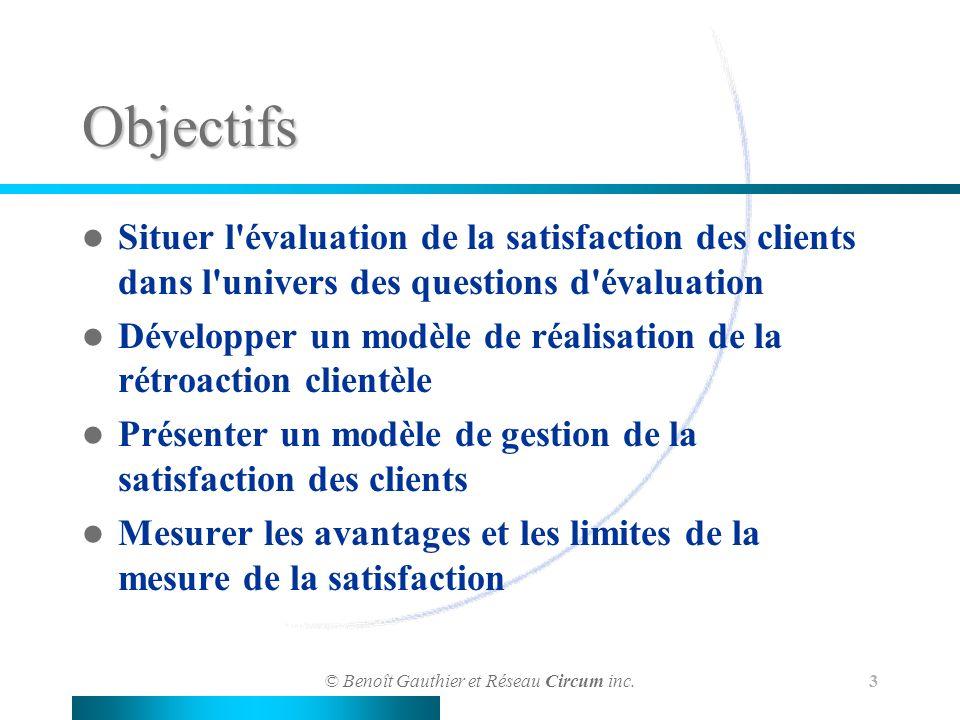 L évaluation de la satisfation de la clientèle : méthodes et limites