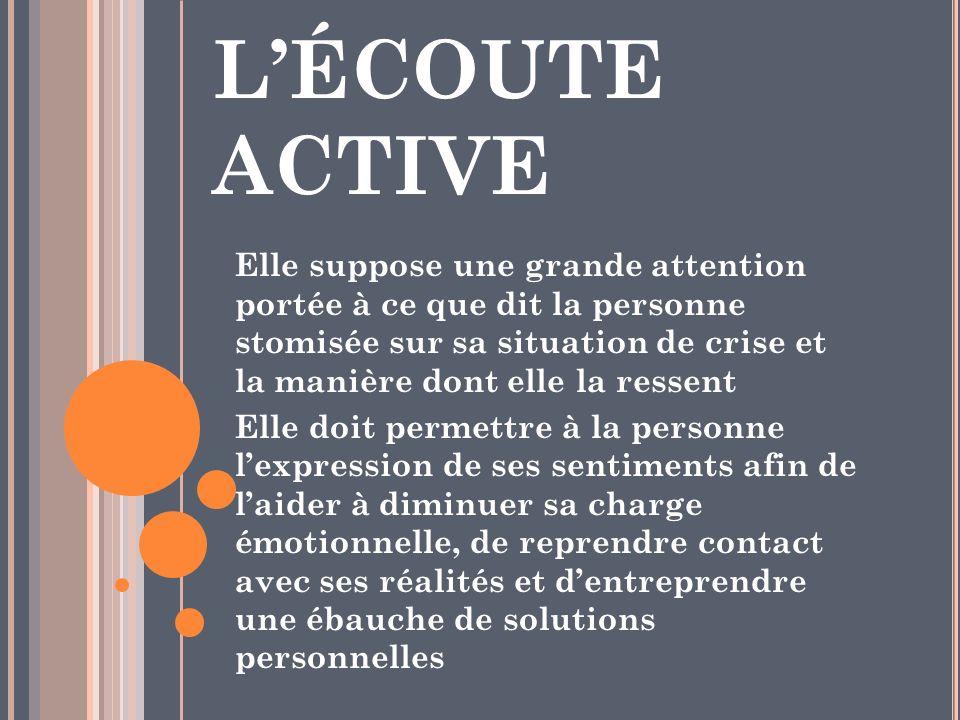 L'ÉCOUTE ACTIVE