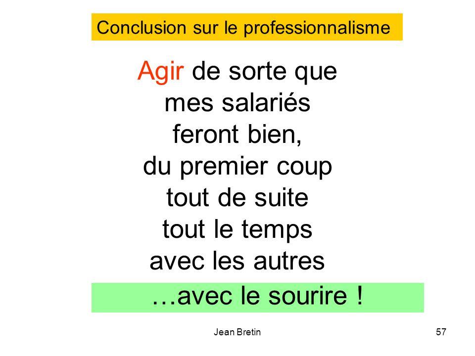 Conclusion sur le professionnalisme