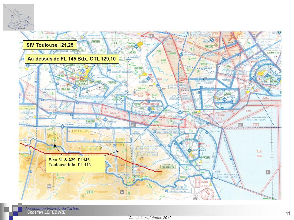 SIV Toulouse 121,25 Au dessus de FL 145 Bdx. CTL 129,10