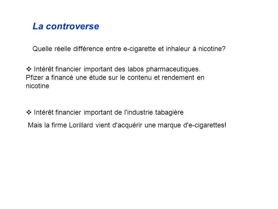 La controverse Quelle réelle différence entre e-cigarette et inhaleur à nicotine