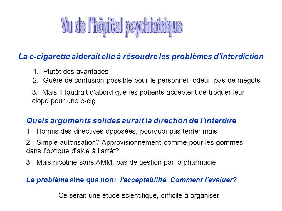 La e-cigarette aiderait elle à résoudre les problèmes d interdiction