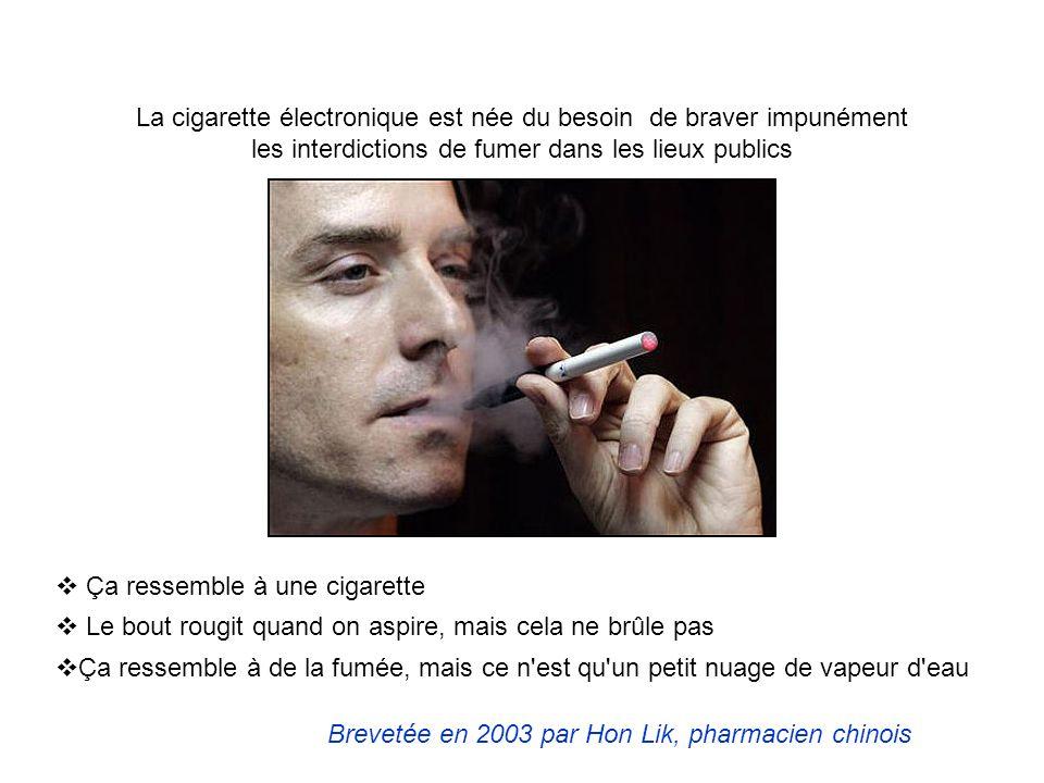 La cigarette électronique est née du besoin de braver impunément les interdictions de fumer dans les lieux publics