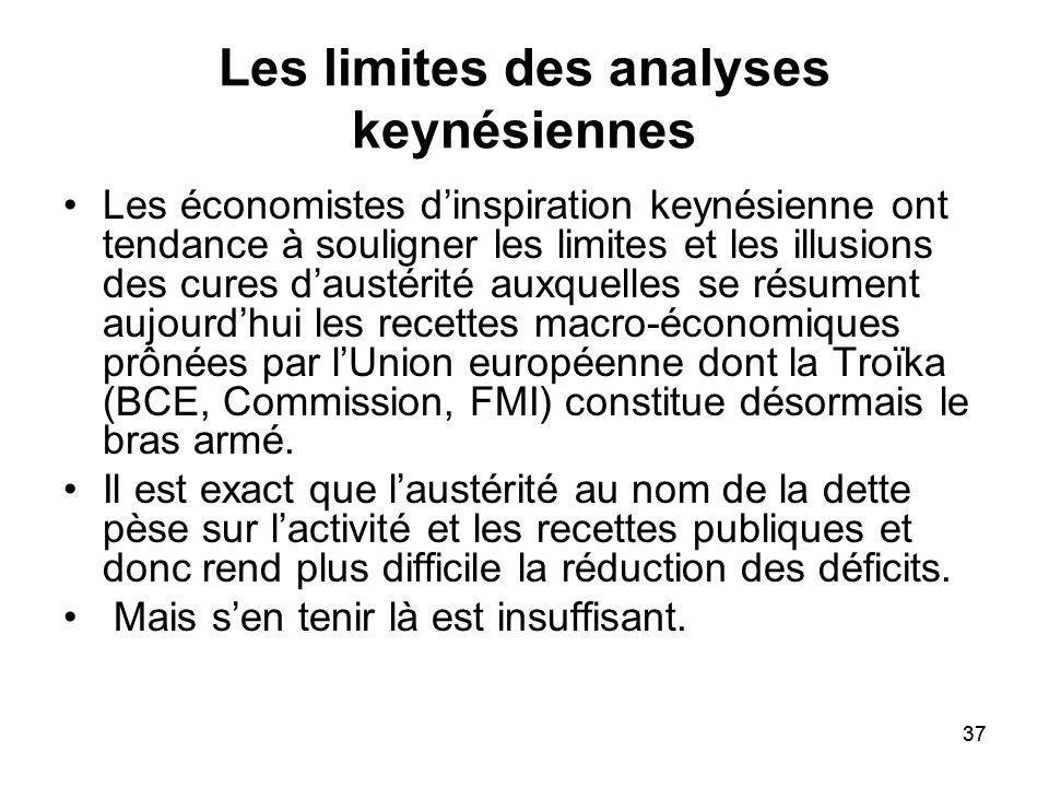 Les limites des analyses keynésiennes