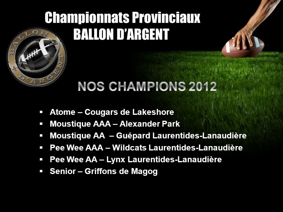 Championnats Provinciaux BALLON D'ARGENT
