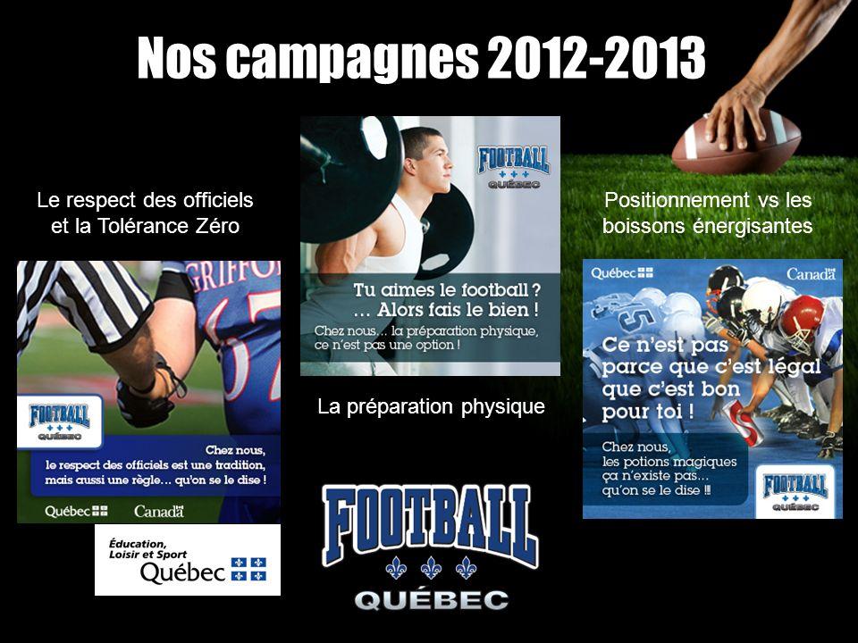 Nos campagnes 2012-2013 Le respect des officiels et la Tolérance Zéro