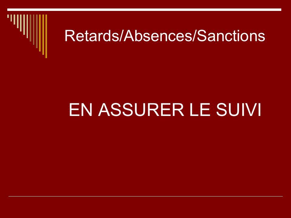 Retards/Absences/Sanctions
