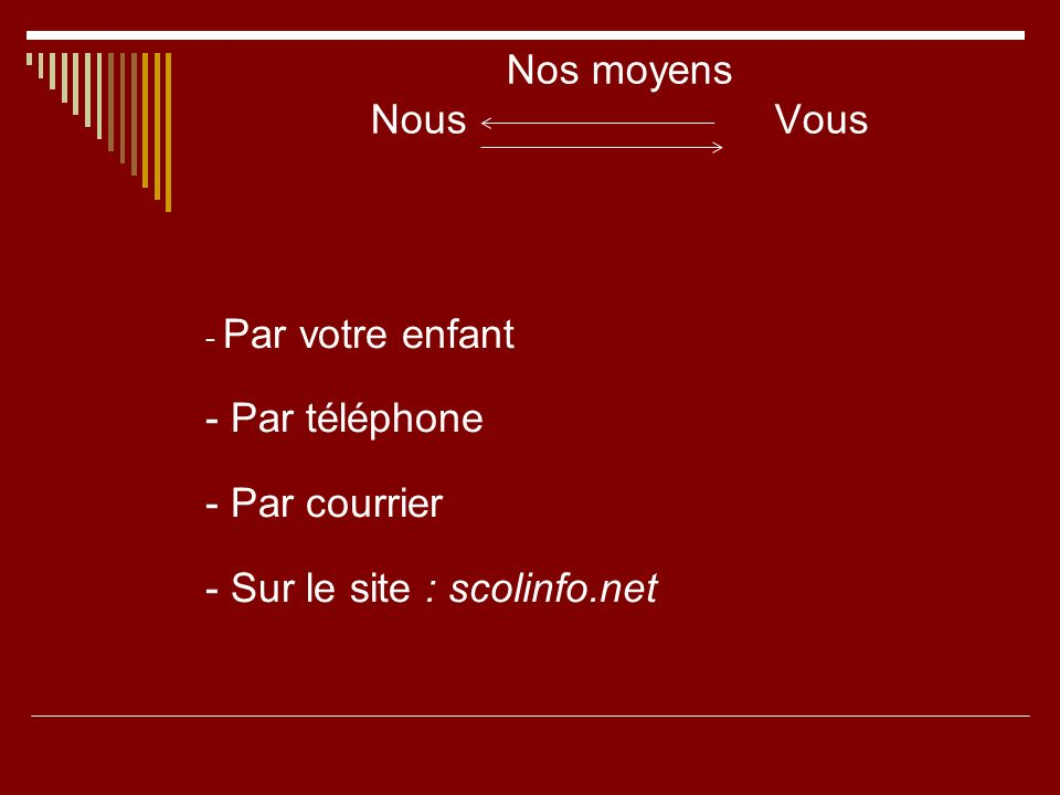 - Sur le site : scolinfo.net
