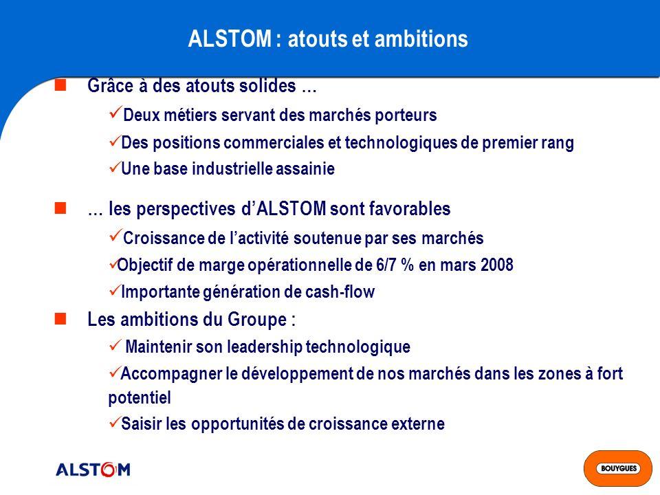 ALSTOM : atouts et ambitions
