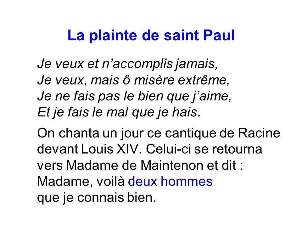 La plainte de saint Paul