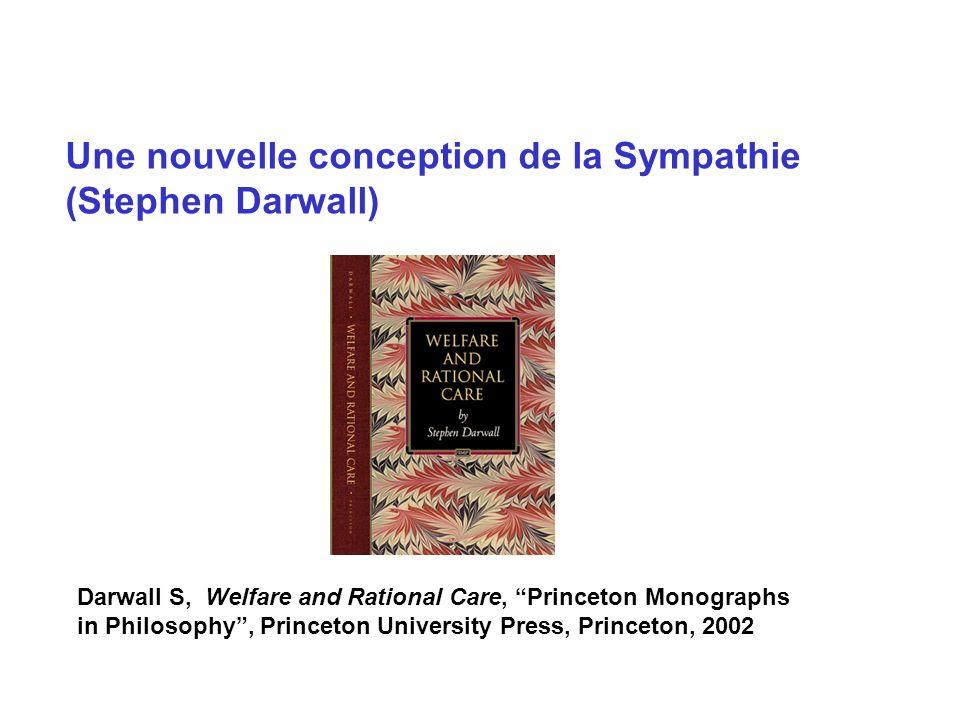 Une nouvelle conception de la Sympathie (Stephen Darwall)