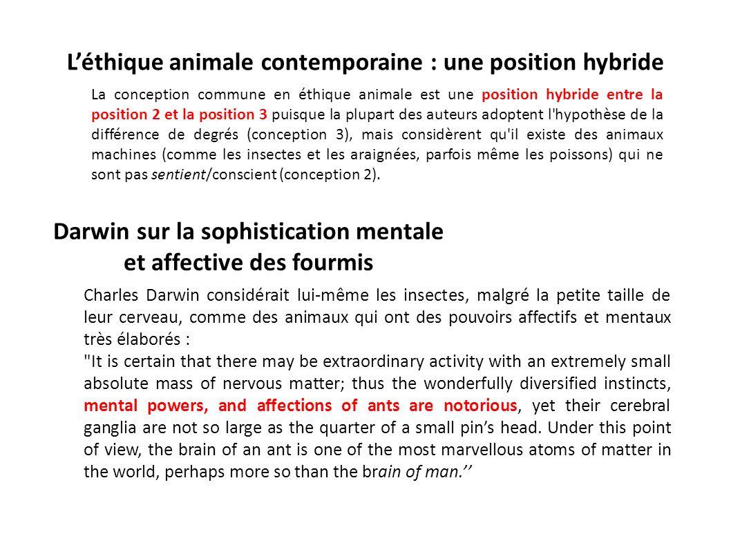 L'éthique animale contemporaine : une position hybride