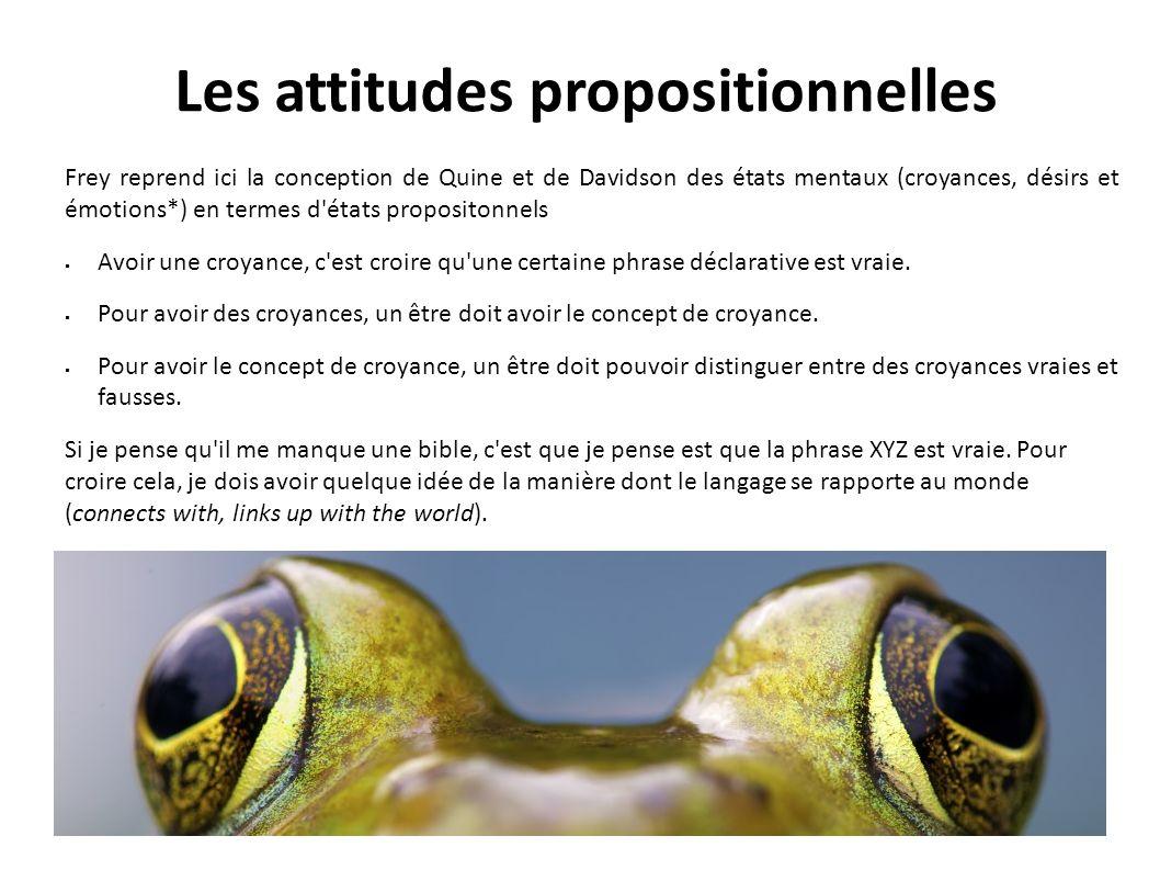 Les attitudes propositionnelles