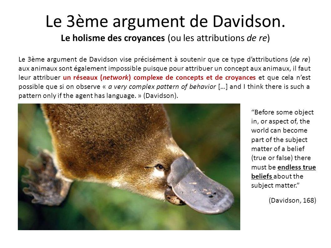 Le 3ème argument de Davidson
