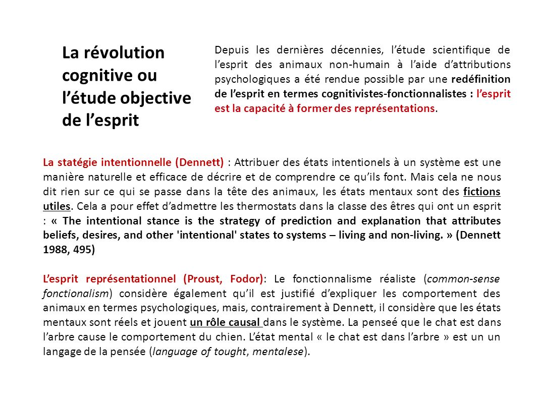La révolution cognitive ou l'étude objective de l'esprit