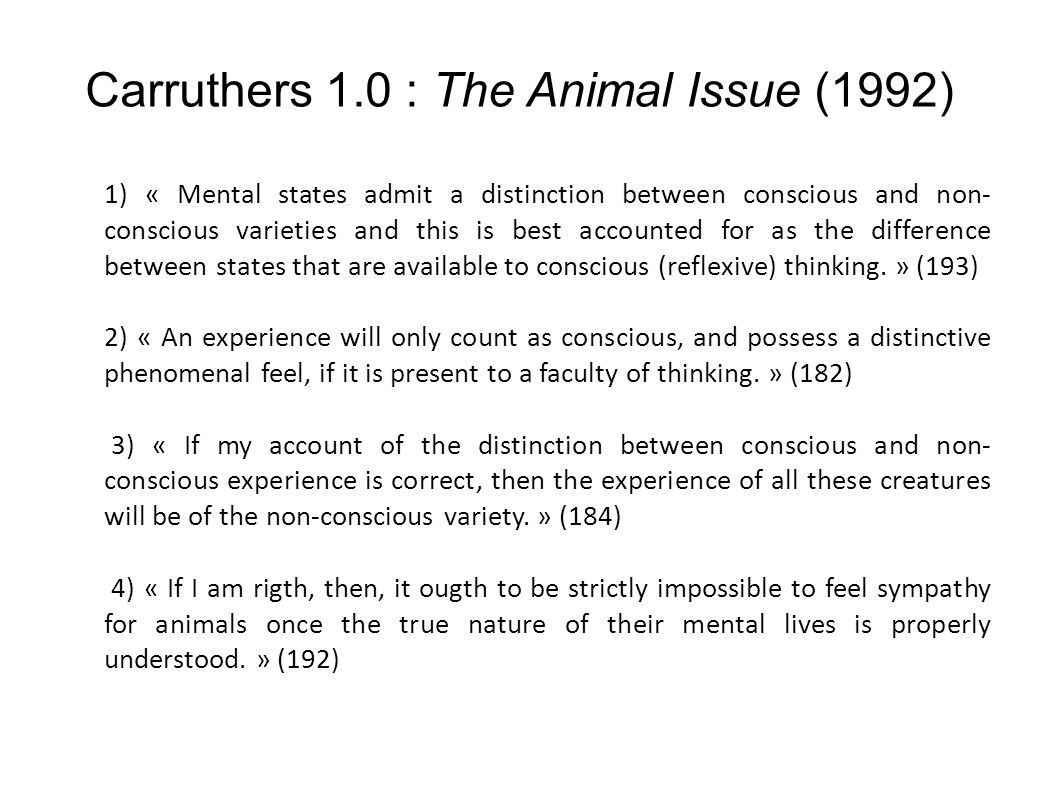 Carruthers 1.0 : The Animal Issue (1992)