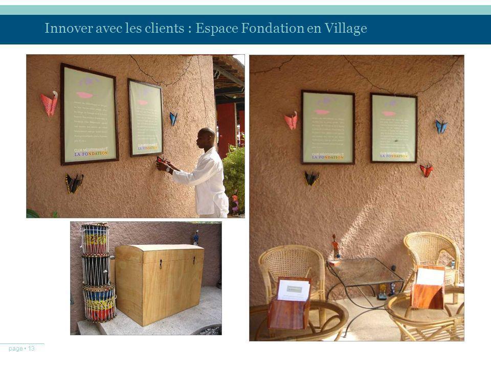 Innover avec les clients : Espace Fondation en Village