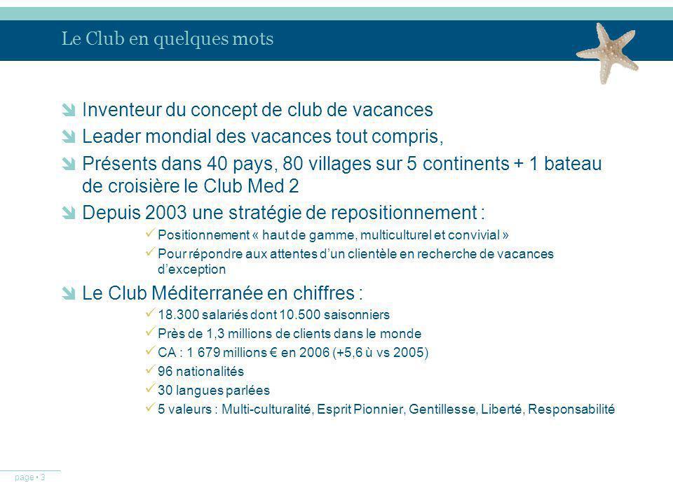 Le Club en quelques mots