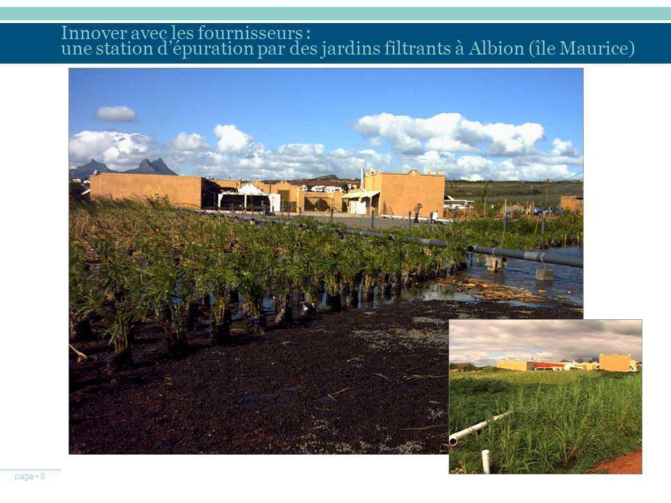Innover avec les fournisseurs : une station d'épuration par des jardins filtrants à Albion (île Maurice)
