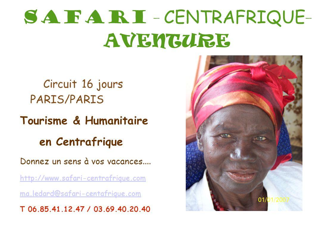 SAFARI - CENTRAFRIQUE-AVENTURE