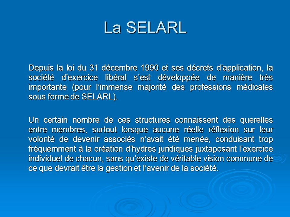 La SELARL