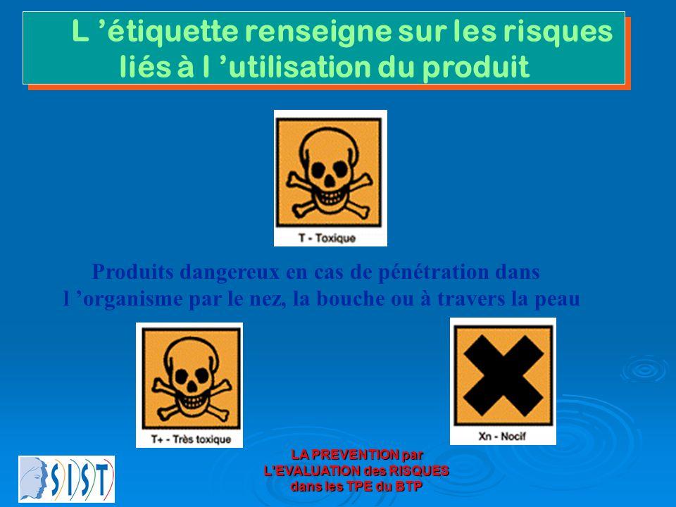 L 'étiquette renseigne sur les risques