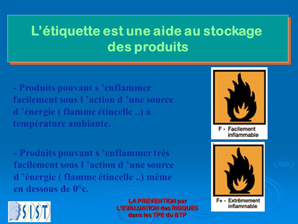 L'étiquette est une aide au stockage des produits