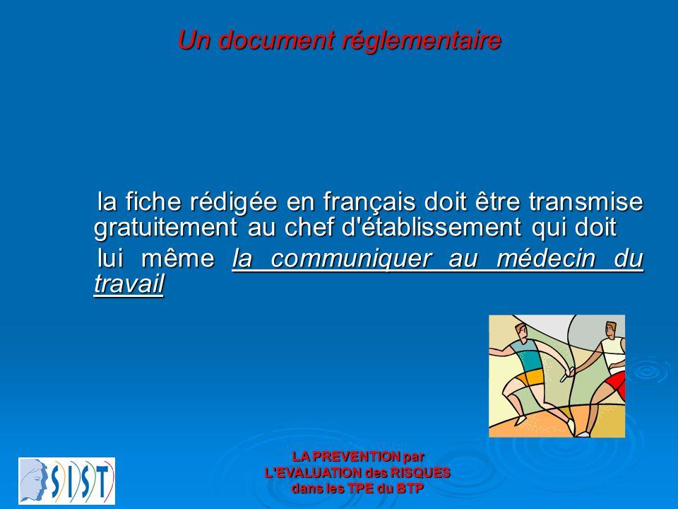 Un document réglementaire