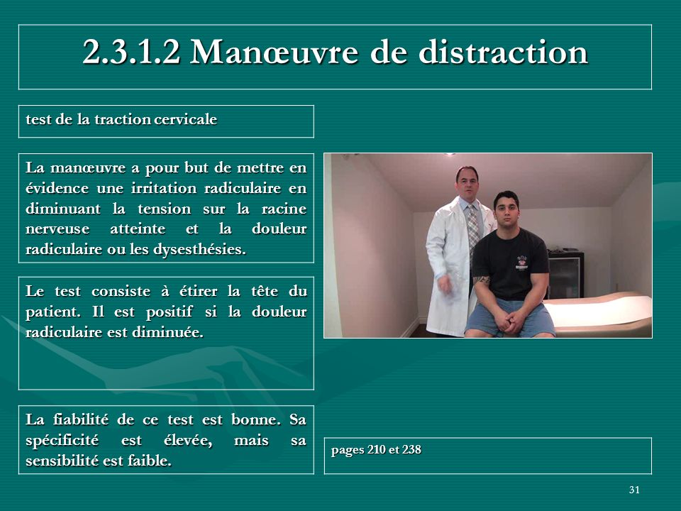 2.3.1.2 Manœuvre de distraction