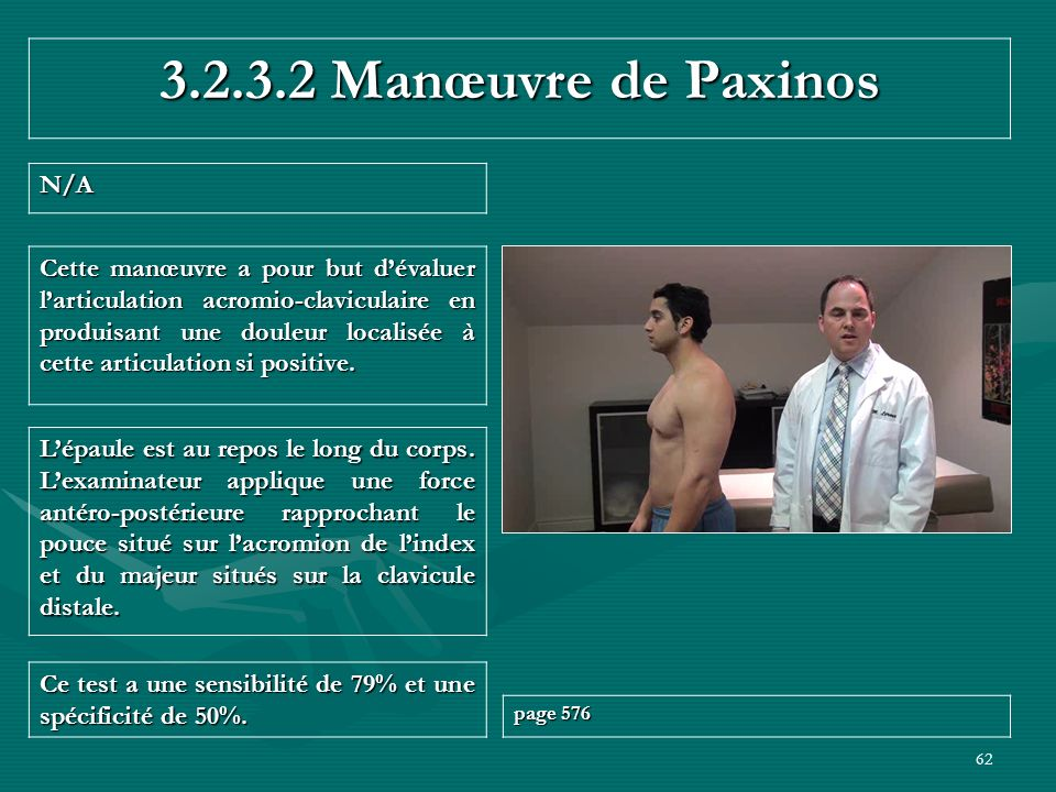 3.2.3.2 Manœuvre de Paxinos N/A