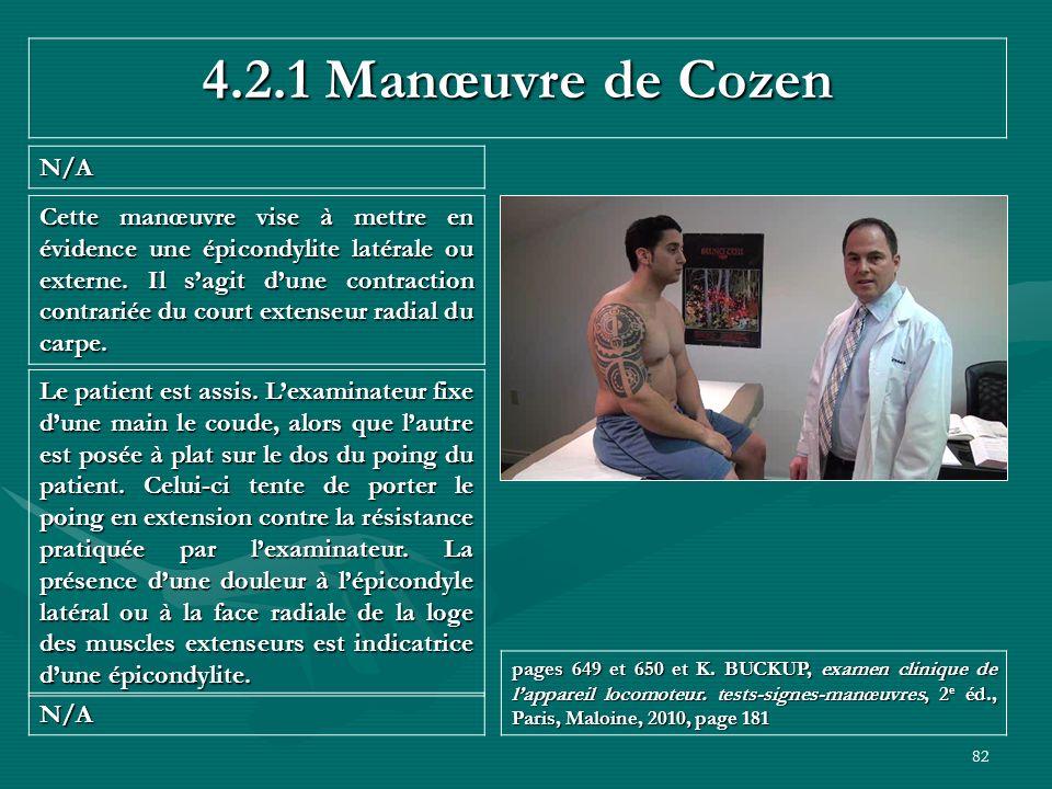 4.2.1 Manœuvre de Cozen N/A.