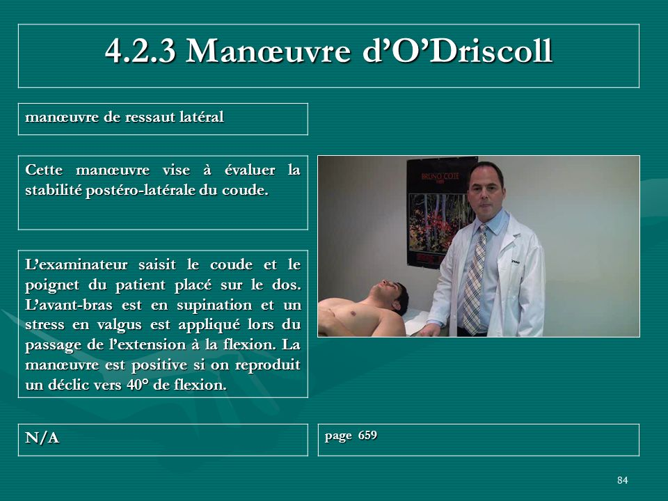 4.2.3 Manœuvre d'O'Driscoll