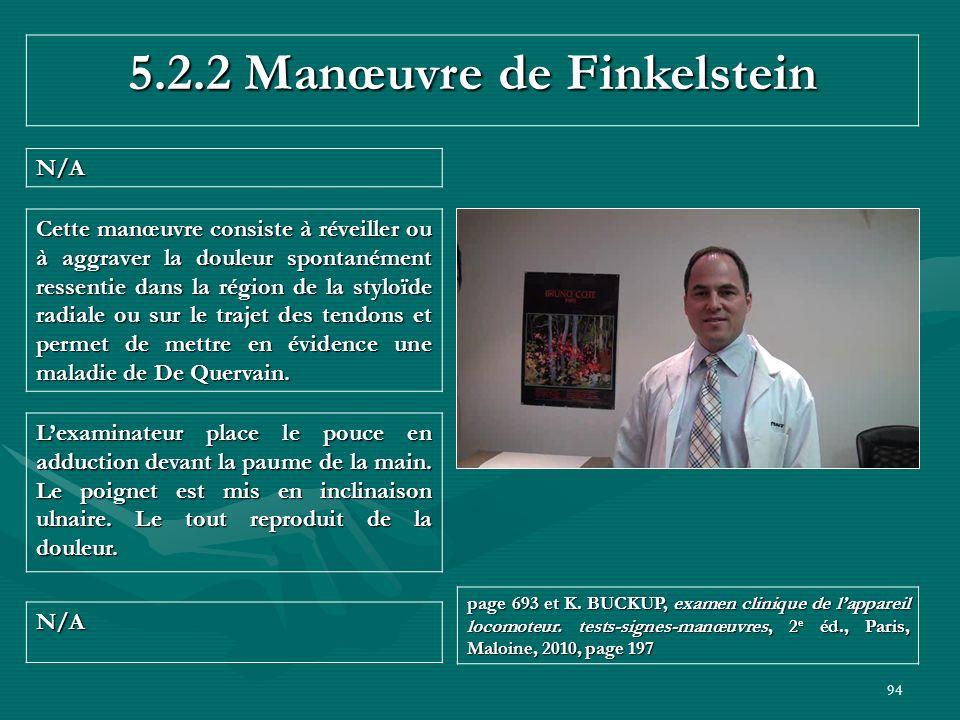 5.2.2 Manœuvre de Finkelstein