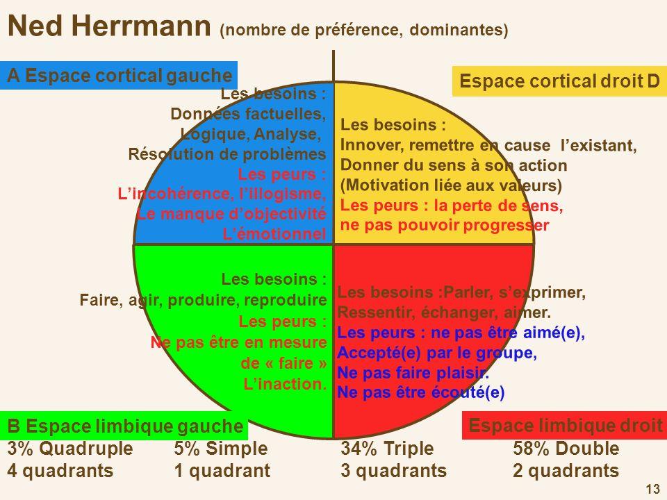 Ned Herrmann (nombre de préférence, dominantes)