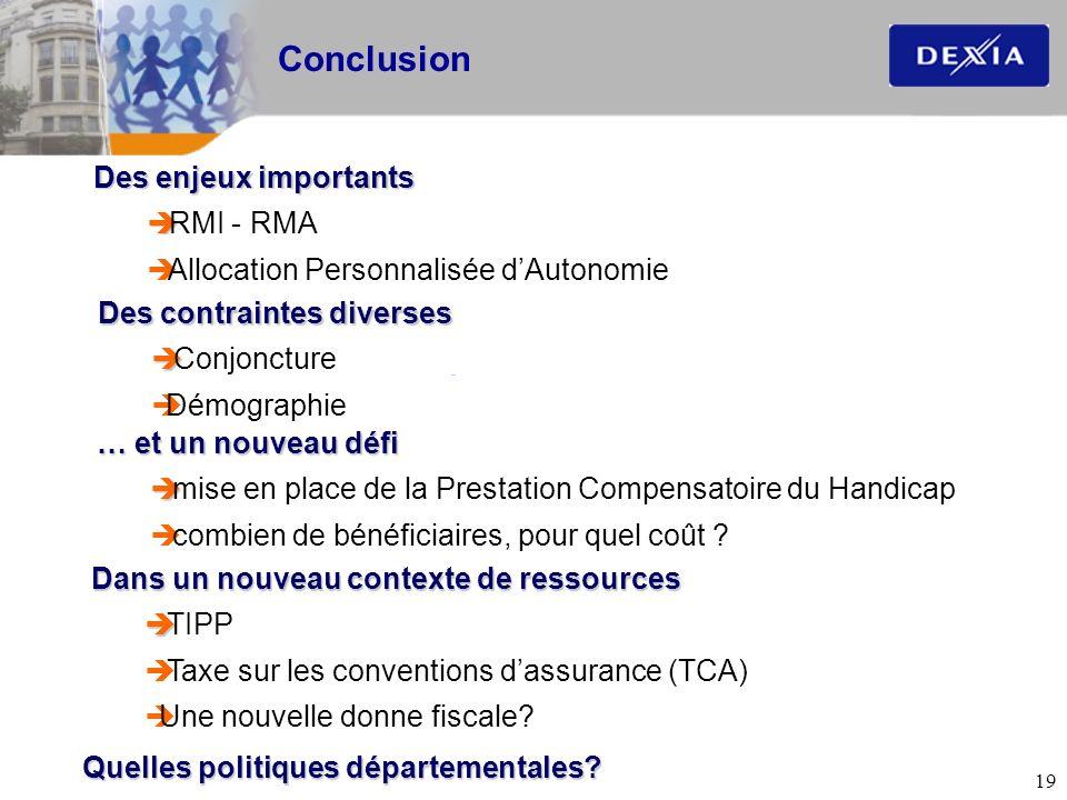 Conclusion Des enjeux importants RMI - RMA