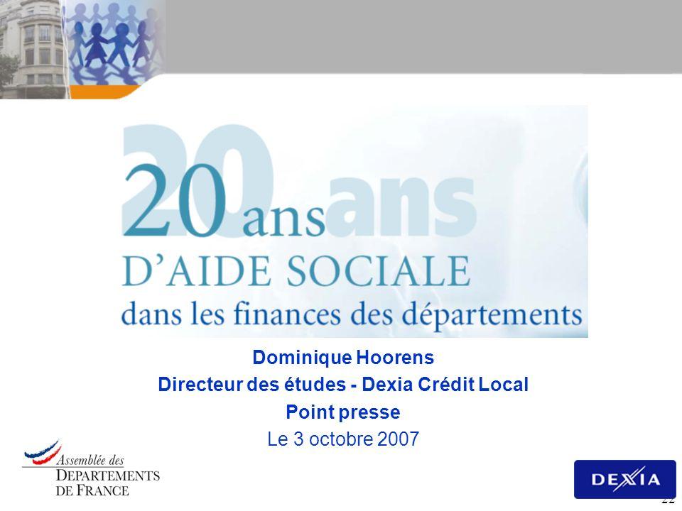Directeur des études - Dexia Crédit Local