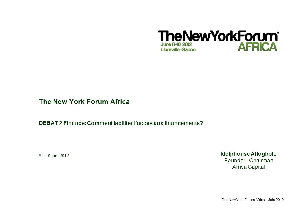 The New York Forum Africa