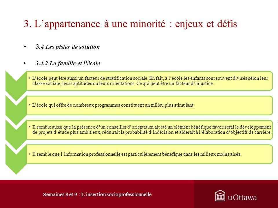 3. L'appartenance à une minorité : enjeux et défis