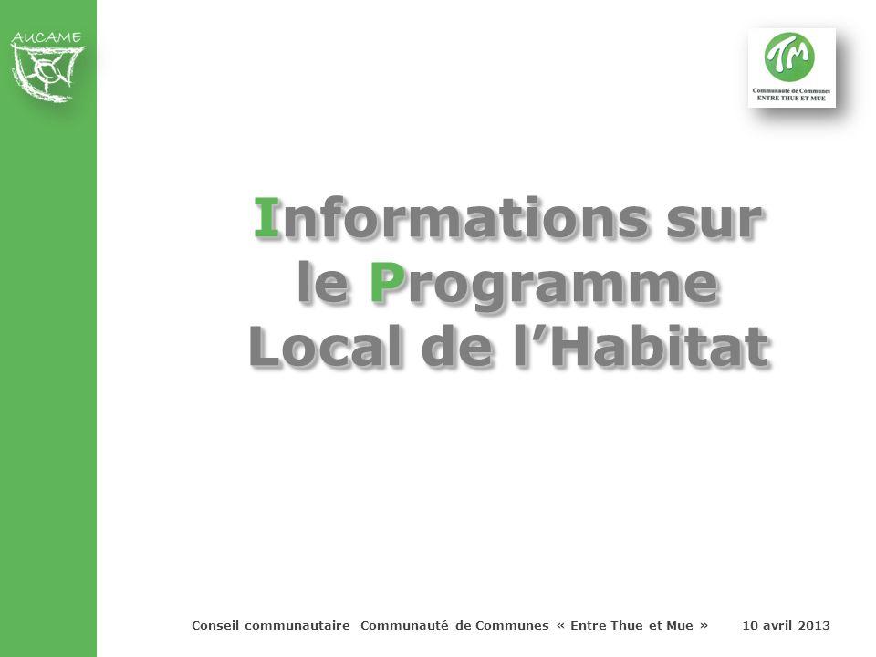 Avant d'engager la démarche Programme Local de l'Habitat, on voulez faire un rappel législatif et organisationnel