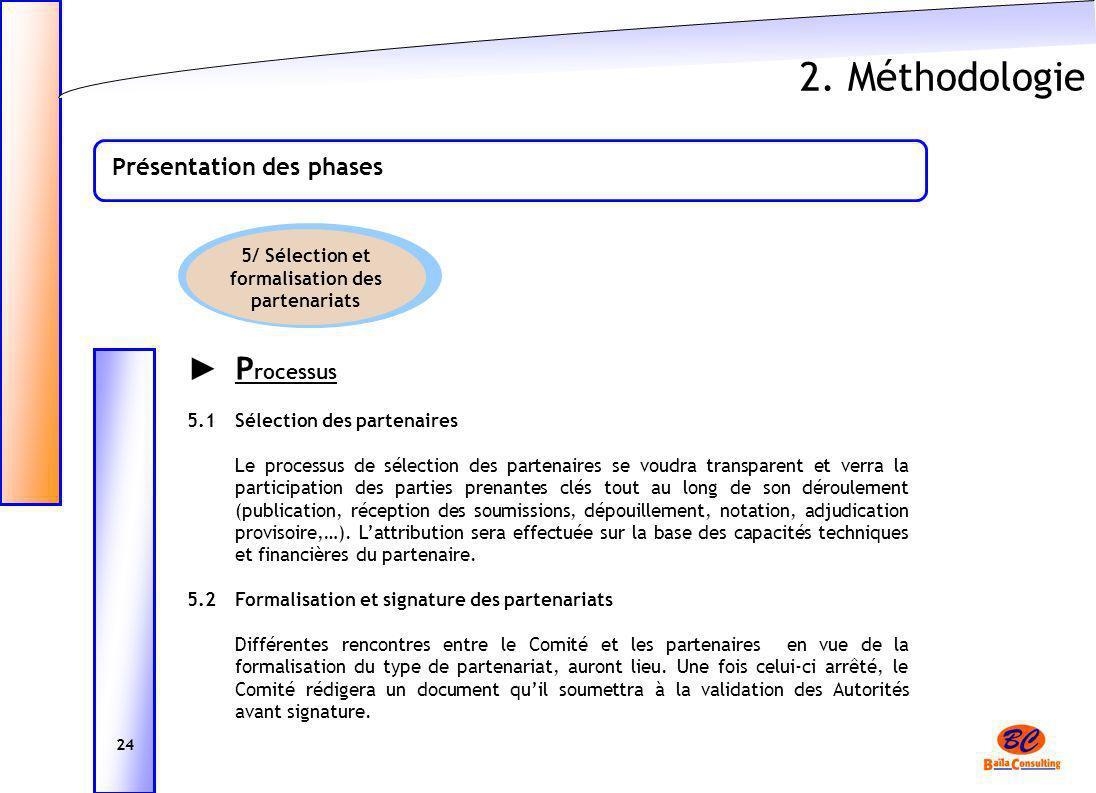 5/ Sélection et formalisation des partenariats
