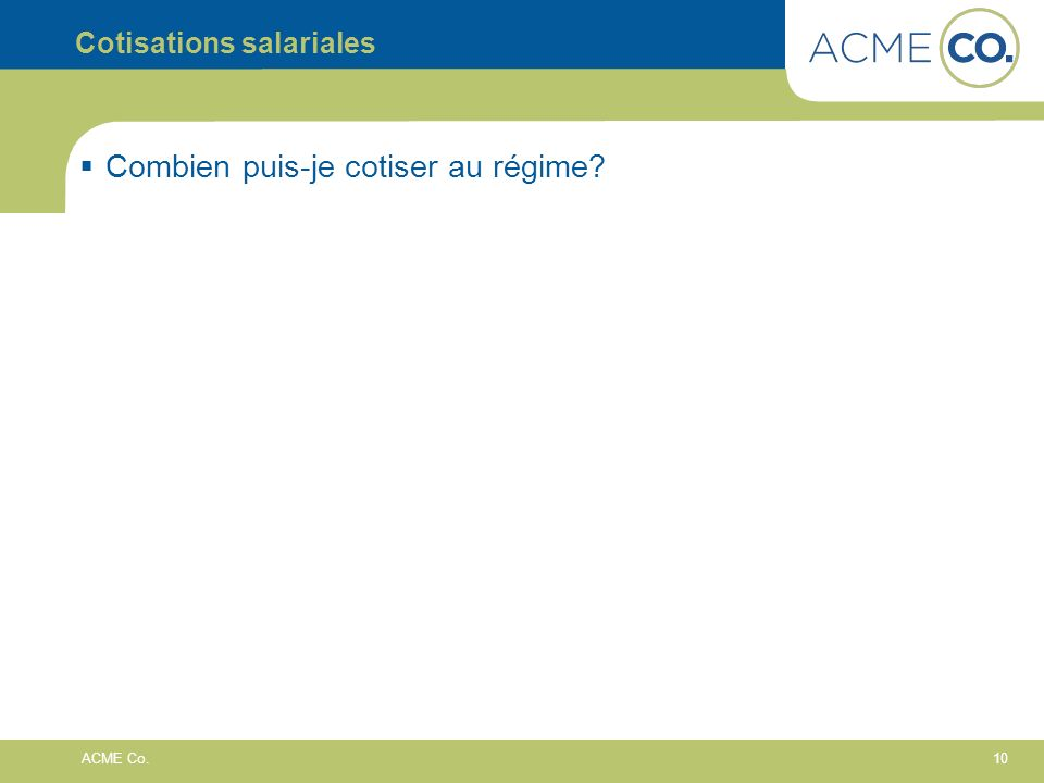 Cotisations salariales