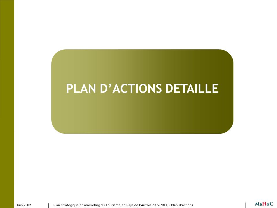 PLAN D'ACTIONS DETAILLE