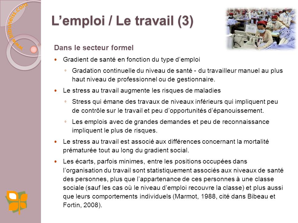 L'emploi / Le travail (3)