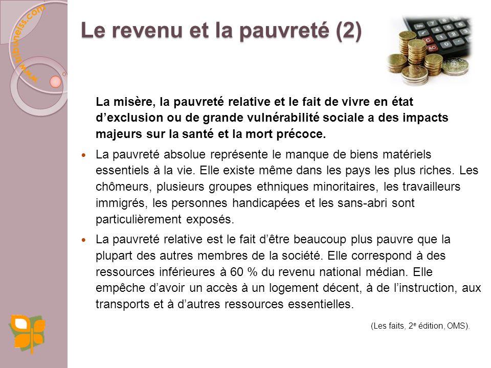 Le revenu et la pauvreté (2)